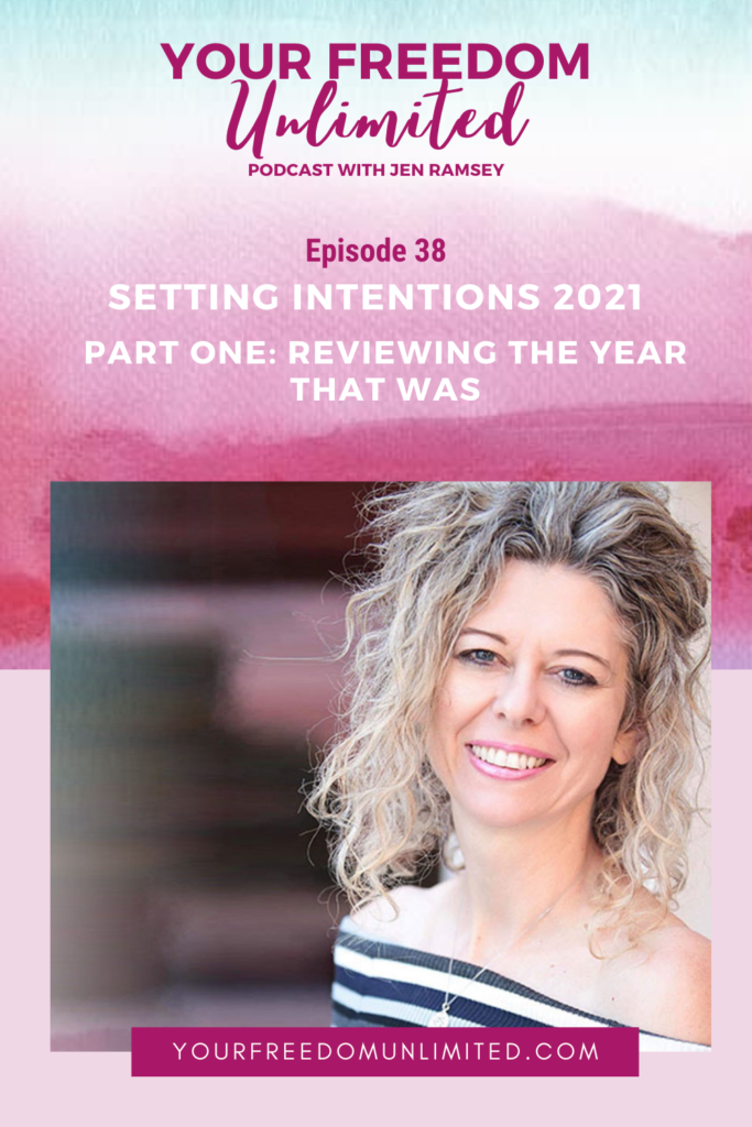 Setting Intentions 2021 – Part One: Reviewing the Year That Was